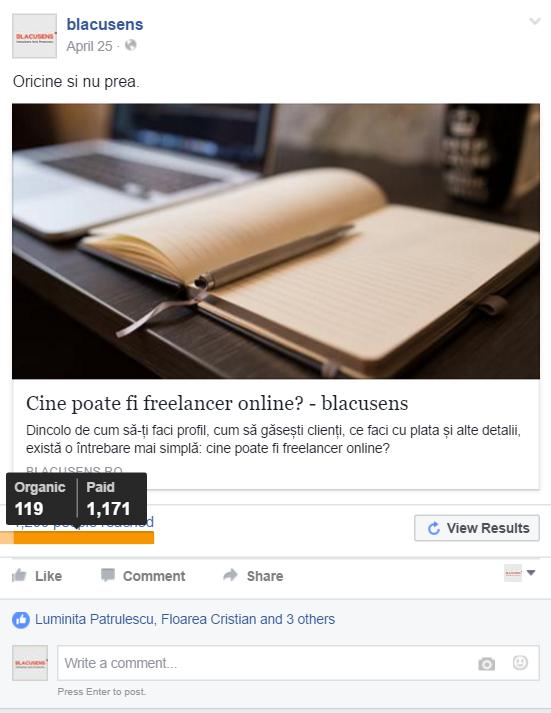 facebook marketing - reach platit